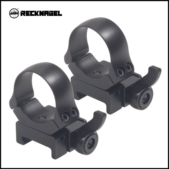 Recknagel Picatinny QD Rings with Windage 30mm [57630-0500]