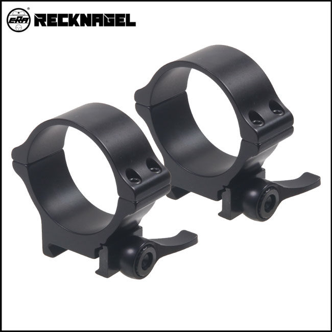 Recknagel QD Rings for Picatinny - 40mm, 8mm BH [57540-0801]