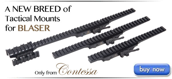 Contessa Quick Release Tactical Picatinny Rails for Blaser