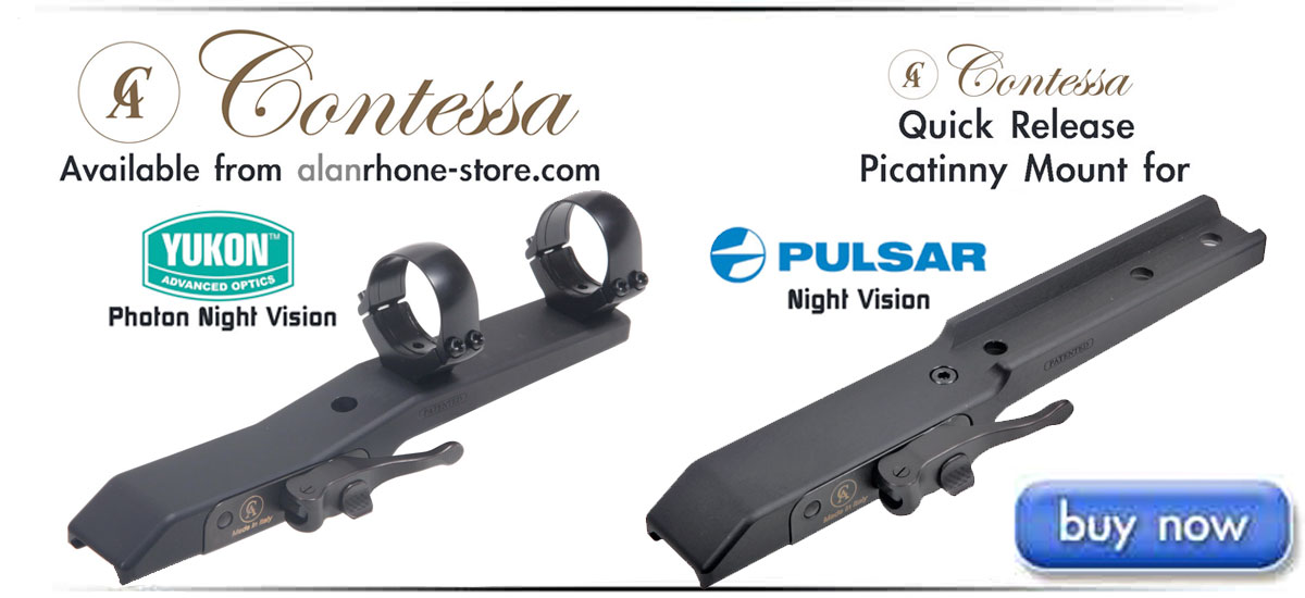 New Contessa Quick Release Picatinny Mounts for Pulsar and Yukon Photon